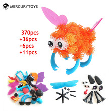 MERCURYTOYS Free Toy Bag Assembling 3D Puzzles kids Toys DIY Creative Squeezed Puff Ball Educational KIDS Toys