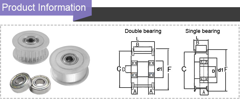 5M timing Idler pulley information
