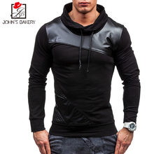 New Brand Sweatshirt Male 2017 Stitching Fashion Mens Hoodies Sweatshirt Slim Cotton Men Sweatshirts Thin Pullover Tracksuit XXL