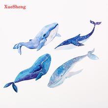 30PCS/box Whale Fish Paper Bookmark Stationery Bookmarks Book Holder Message Card School Supplies Papelaria