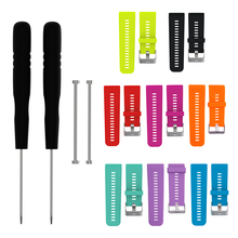8 Colors Silicone Watch Band Strap w/Tools Pins for Garmin Vivoactive HR Sport GPS Watch