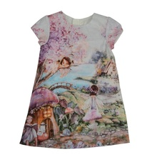 Fashion Baby Kids Girl Dress Printed Short Sleeve Cotton Clothes Princess Party Mini Dress Summer Girls' Dress