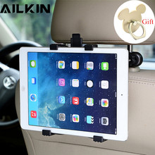 Universal Car Phone Tablet Holder Stand AILKIN Back Auto Seat PC Headrest Bracket Support Accessories for phone iPad Mini pro(China)