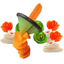 Free Shipping Creative Kitchenware Vegetable Slicer Roll Flower Chipper Planing Device Kitchen Accessories Cooking Tools