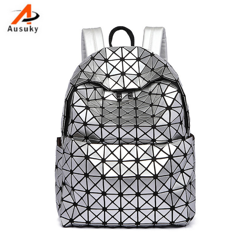 Fashion laser balck/silver PU women backpack casual preppy leather Black Backpacks Female Girls school Bags Ladies Backpack-30<br>