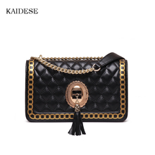 KAIDESE 2017 fashion style new style single shoulder bag leather lady lingge slanting the small aroma of the skin of the skin an
