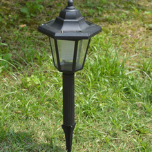Outdoor White Waterproof LED Solar Landscape Light Cottage Style Garden Lawn Yard Doorway Park Square Lamps Decoration