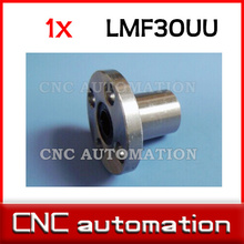 LMF30UU 30mm x 45mm x 64mm Round Flanged Type Linear Bushing Ball Bearing for 30mm rail guide(China)