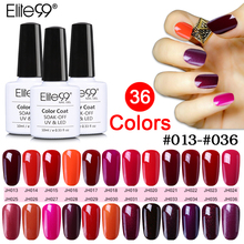Elite99 10ml Soak Off UV Gelpolish Hot Sale Wine Red Serie UV Nail Polish Nail Art Manicure Cured with LED Lamp Nail Varnish Gel