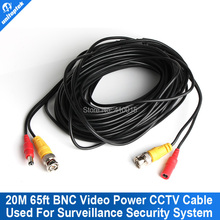65ft 20M Video DC Power CCTV Camera Video Cable BNC For CCTV Security Camera DVR Surveillance