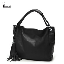 FUNMARDI Casual Candy Top-Handle Bags Tassel Leather Handbags Women Messenger Bags Lady's Hobos bag Luxury Female bags WLHB1708(China)
