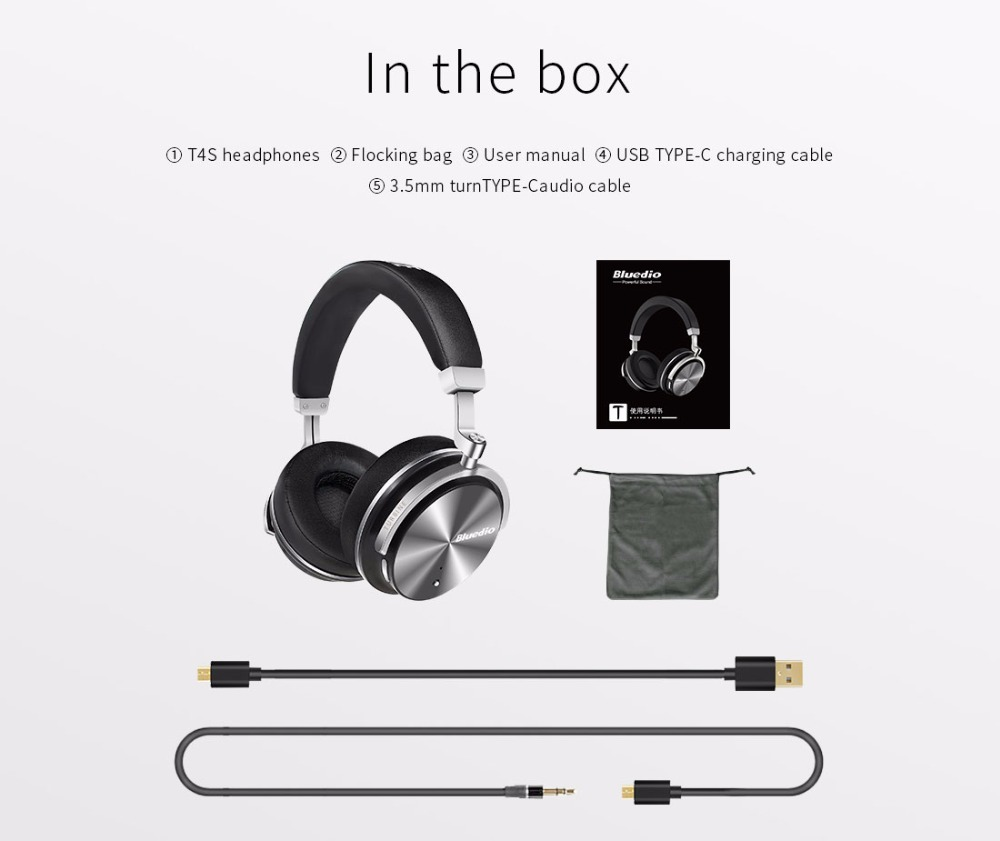 Bluedio T4S Active Noise Cancelling Wireless Bluetooth Headphones wireless Headset with Mic 17
