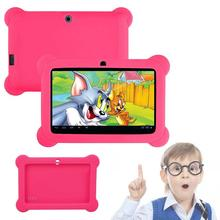 "Silicone Cute Soft Gel Case Cover For 7"" Android A23 Q88 Tablet PC Kids Rose(China)"
