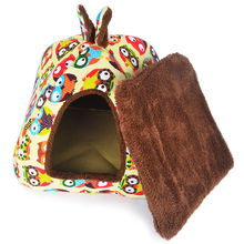 S/M/L Dog House With Removable Cover Dog Beds Mat Foldable Confortable Pet Dog House For Small Medium Dogs(China)