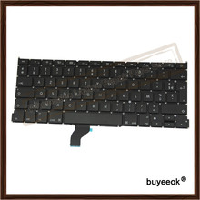 "Original French Keyboards Black Replacement For Apple Macbook Pro Retina 13"" A1502 2013-2015 AZERTY FR/French layout"