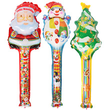 20pcs/bag 78*25cm Santa Claus Foil Air Balloon bar Kids Christmas Gifts Classic Toys For Children Boy Girls Party Decoration