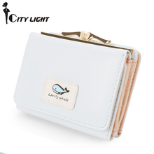 Brand new arrival fashion women wallet small wallets short design simple cute coin purse three fold multi-function Purse(China)