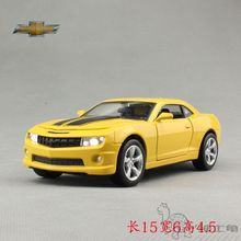 High Simulation Exquisite Baby Toys: MeiZhi Car Model Chevrolet Camaro Bumblebee Model 1:32 Alloy Sports Car Model Best Gifts