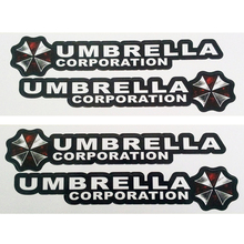 OTOKIT 4PCS/lot Resident Evil Umbrella Corporation Logo Glue Sticker Car Decal Covers Waterproof for All cars on Car Handle Knob