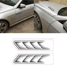 Auto Car Vehicle 3D Fake Side Air Vents Outlet Decorative Car Stickers Decals Symbol car-stlyling Decoration Stickers
