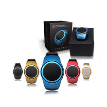 B20 Bluetooth Sport Speaker Stylish Watch Design Portable Super Bass Outdoor Speakers Wrist Bracelete With Built-in Microphone