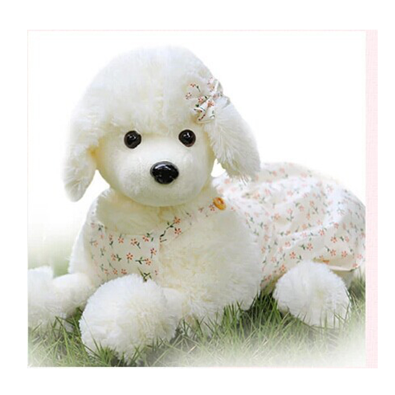 1PC Manufacturers Wholesale Plush Toys Lovely Floral Dress Poodle Puppies Cloth Doll For Children birthday gifts<br><br>Aliexpress