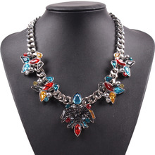 Fashion Famous New Brand Bird Animal Charm Colorful Crystal Chain Women Necklace Cheap Sexy Autumn Jewelry Gift