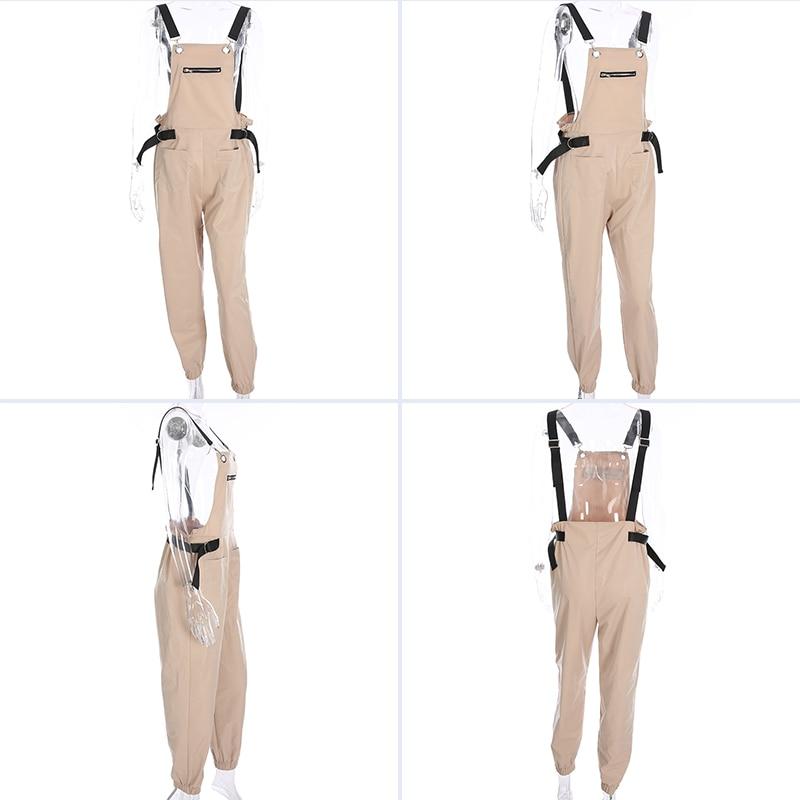 7 Sweetown Black Long Jumpsuit Women Blue Street Style Combinaison Pantalon Femme Green Overalls Khaki Rompers Womens Jumpsuits