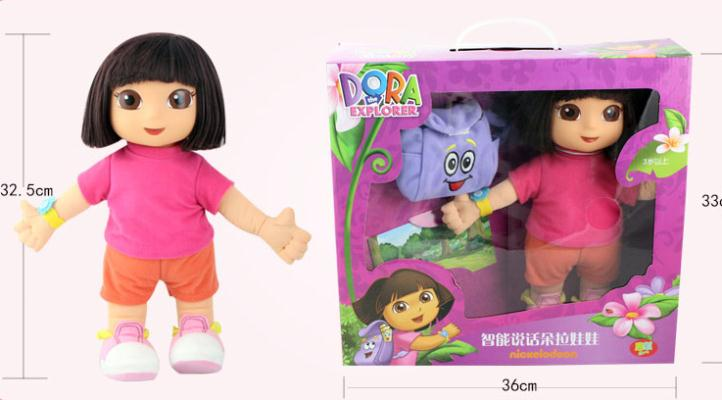 New commodity, 33 cm intellgent sweet dreams dora will speak plush doll toy, the best gift for girl/baby/kid<br><br>Aliexpress