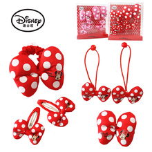 Disney 6PCS/Lot Hair Accessories Princess Hair bands Hair pins BB Clips Headwear For Girls Kid Gifts Minnie Cartoon Headwear(China)