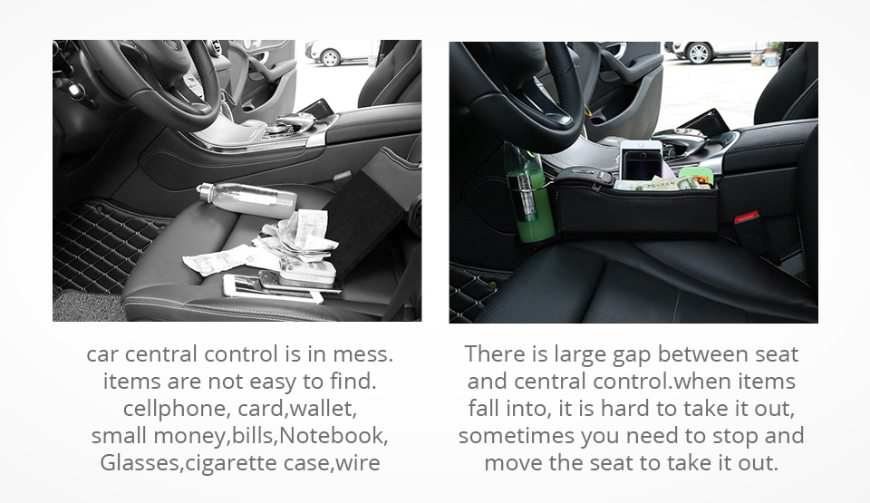 قاعدة لوضع الاغراض في السيارة مع شاحن usb 2