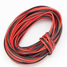 20m 66ft 20awg Extension Cable Wire Cord led Strips Single Colour 3528 5050 5630 2835 Red/Black 2pin Hookup Wire 5V 12V 24V DC