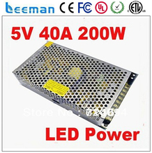 LED DISPLAY Leeman UL CE ROHS approved 5v 40a 201w switching power transformer short circuit protection power supply led