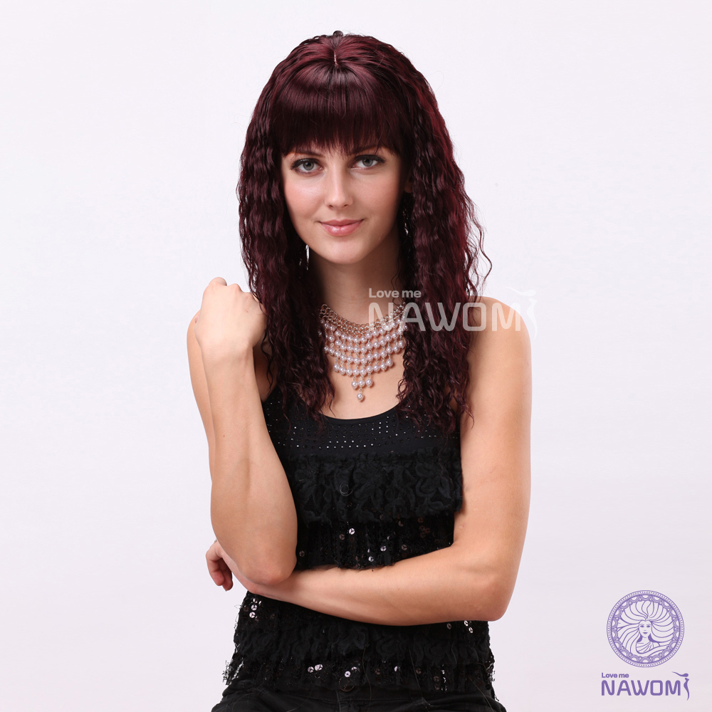 Curly Hair Red Cool Women Wigs Online Synthetic Wigs High Quality Free Shipping<br><br>Aliexpress