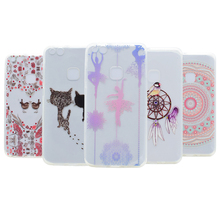 Soft TPU Printed Case For Huawei P8 Nova Lite 2017 P10 Brid Rose Cat Pattern Colors Silicone Cover For Huawei P8 P10Lite Cases