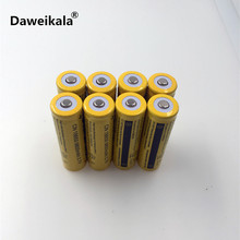 8pcs/set 18650 battery 3.7V 9800mAh rechargeable liion battery for Led flashlight Torch batery litio battery+ Free Shipping