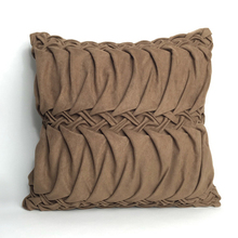 Europe luxury Hand Sewing folding wave Cushion Cover suede soft cushion case sofa bed car home room Dec wholesale FG319(China)