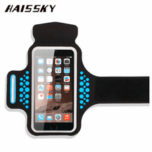 Buy HAISSKY Sport Running Armband Case iPhone X 8 Plus 7 Plus 6 6s Plus Samsung Galaxy S8 Plus Xiaomi Mi5 Touch Screen Arm Belt for $6.62 in AliExpress store