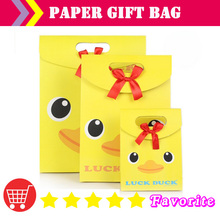 [ manufacturers] OEM  paper bags with logo/duck/ birthday bag / caton bag/shiny/packaging label/food bags/shopping#100169medium