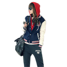New Design Jacket Women Casual Long Sleeve Baseball Coat Stand Collar 0093