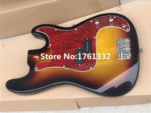 Hot sale special price Factory custom DIY guitar body with red pearl pickguard,the wood ,color can be changed as your request
