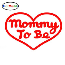 HotMeiNi Heartshaped Pattern Mommy To Be Letter Arts Love Car Sticker for School Bus Motorcycle Laptop Vinyl Decal Mother's Day(China)
