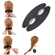 Fashion Oval card teeth fish bones Hair Braid Hair Clip Braiding Roller Style Hook Hair Styling Tool