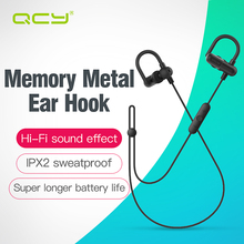 QCY QY11 ear hook headphones apt-x HIFI 3D stereo headsets with bass sports headphones for phone calls(China)