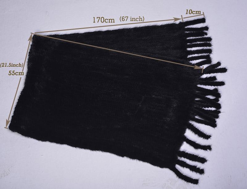 mink shawl size