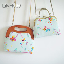 LilyHood Handmade 2017 Embroidered Voile Shoulder Bag Summer Rustic Wedding Victorian Retro Shabby Chic Top-Handle Inspired Bag(China)