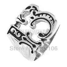 Free Shipping! Lucky 13 Ring Motor Biker Ring Stainless Steel Jewelry Fashion Punk Motorcycles Ring Ring SWR0132