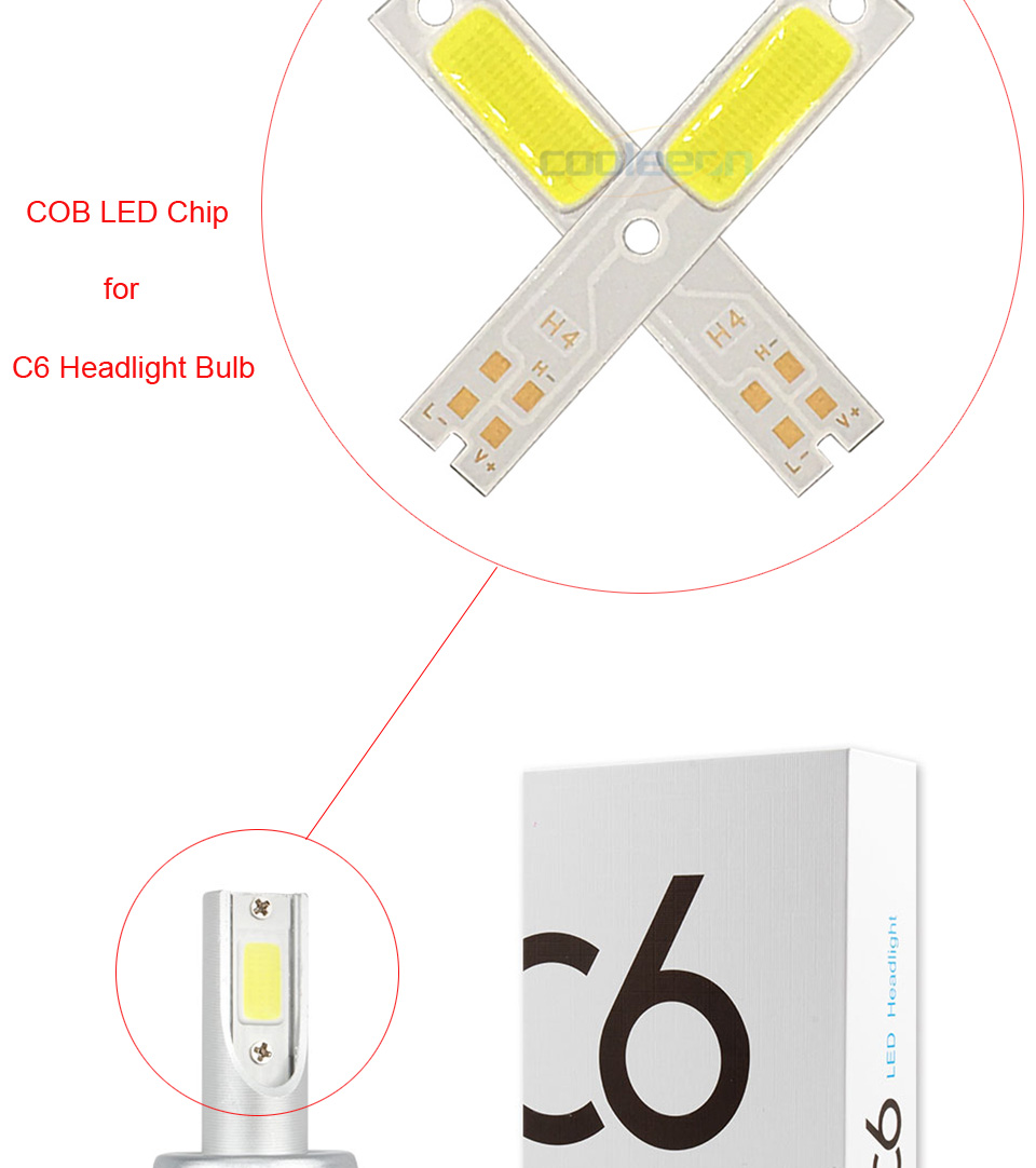 c6 car headlight cob chip light source H1 H3 H4 H7 cob lamp (6)