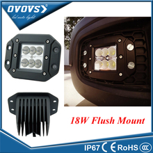 "PCS  wholesale auto part 18w flush mount  work lamp 3"" 12v 18w work light led for truck offroad 4x4"