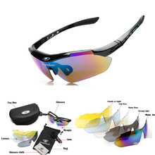 Men Women Cycling Eyewear Sunglasses Outdoor Cycling Glasses Bicycle Bike Polarized Sports Sun Glasses original Box 5 Lenses